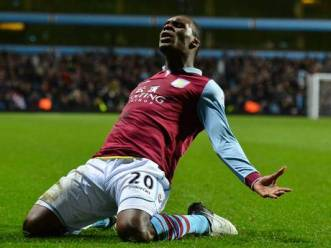 Match-winner | Christian Benteke celebrates his 80th-minute winner against the Royals. (Image | The Independent)