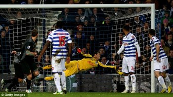 Capitulation | QPR found themselves 3-0 down after Daniel Agger headed home. (Image | Daily Mail)