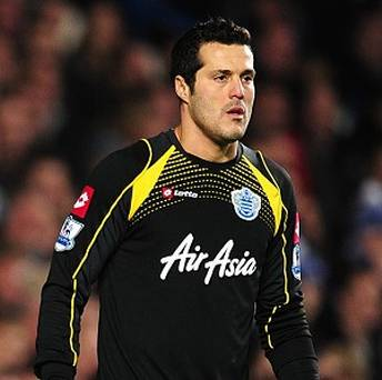 Busy | Goalkeeper Julio Cesar has been in excellent form, but could do little to stop Manchester United. (Image | The Irish Independent)