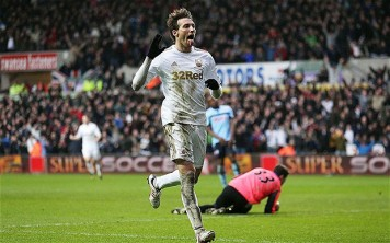 We won't Michu | Swansea City's silky Spaniard celebrates after netting the fourth for Swansea City against Queens Park Rangers. (Image | The Telegraph)