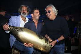 Bubbly chaps | Boss Berish, Shaker and Briatore. (Image | The Sun)