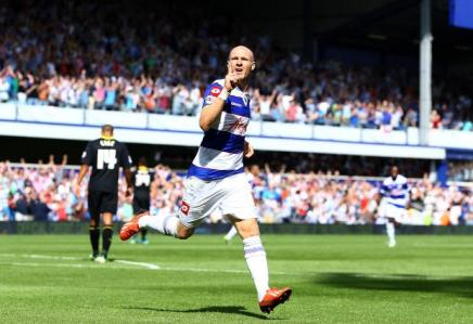Back among the goals | Striker Andy Johnson puts Queens Park Rangers in front against Sheffield Wednesday. (Image | talkSPORT)