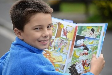 Delighted | Harry Wilson, 11, stars in The Beano. (Image | This Is Bristol)