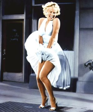 Unforgettable ... Marilyn Monroe and that dress. (Image | The Sun)