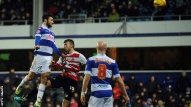 Austin healing | QPR's in-form hitman Charlie scores in added time to sink Doncaster Rovers. (Image | BBC)