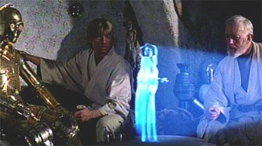 Classic | Star Wars hologram scene. (Image | The Sun)