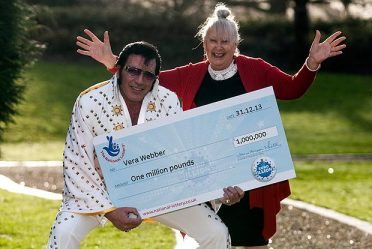 Jackpot joy | Elvis fan Vera scooped £1m. (Image | The Sun)