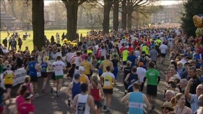 Ready to go | The 2014 Brighton Marathon, like last year's event, will start in the city's Preston Park. (Image | ITV)