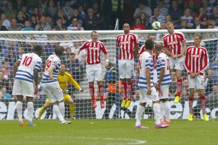In the Nik of time | Niko Kranjcar rescues a point for Queens Park Rangers with an exquisite free kick. (Image | The Malay Mail Online)